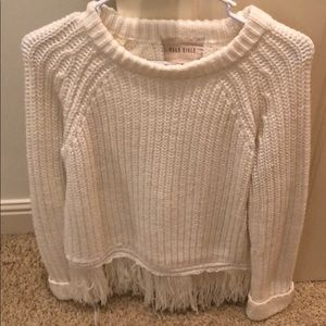Moon River sweater with fringe bottom